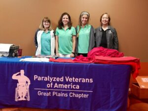 Paralyzed Veterans of America Great Plains Chapter volunteers