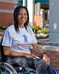 Karla Clay, Paralyzed Veterans of America member and National Veterans Wheelchair Games athlete.