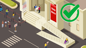Animated voting scene