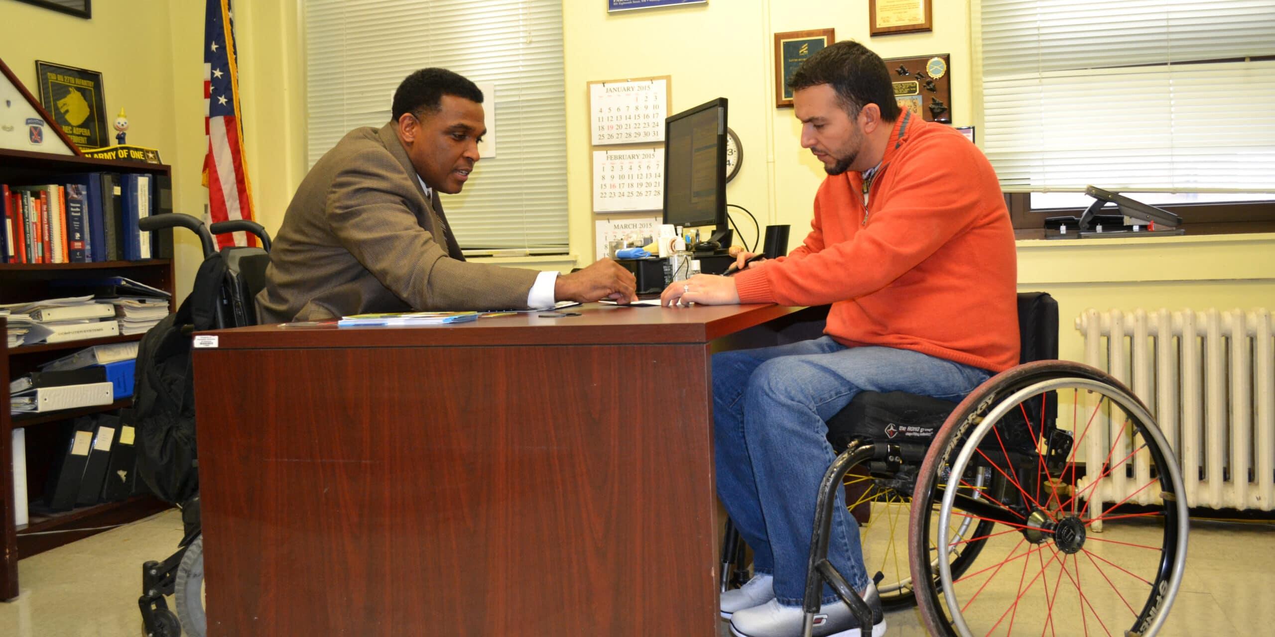 Paralyzed Veterans of America member Alberto Velasco and his PVA National Service Officer