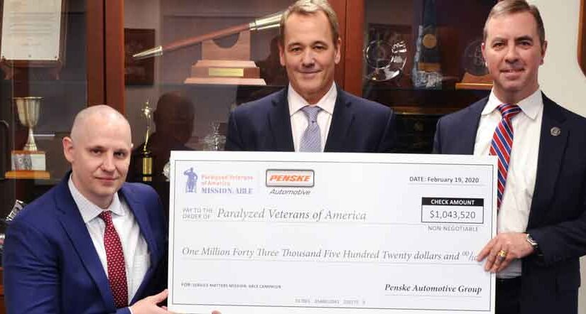 PVA receives over $1 million from Penske Automotive Group's Service Matters campaign